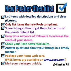 New Posher Checklist